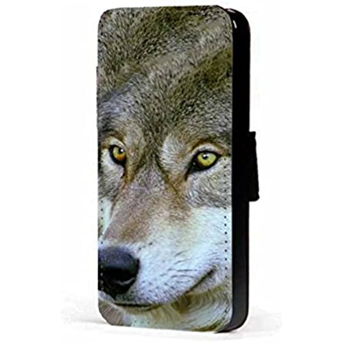 wolf yellow eyes faux PU leather wallet mobile phone case cover for Samsung Galaxy S7 Edge Sales