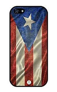 iZERCASE iPhone 5, iPhone 5S Case Puerto Rico Flag Waving RUBBER CASE - Fits iPhone 5, iPhone 5S T-Mobile, Verizon, AT&T, Sprint and International