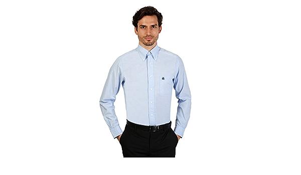 Brooks Brothers Camisa para hombre (100011663 _ AZZURRO ...