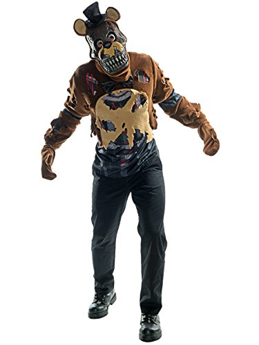 Rubie's Costume Co. Men's Five Nights Deluxe Nightmare Freddy, As Shown, -