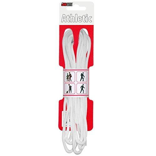 Athletic Soft Flex Oval Rund Schnürsenkel-Schuh Saiten für Basketball, Tennis, Track und Running, Weiß, 45-inch