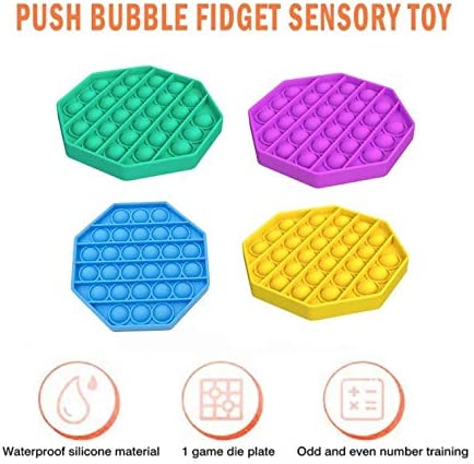 EMELIA Push pop Bubble Fidget Toy Stress Relief and Anti-Anxiety Tools for Kids and Adults Color Mixing