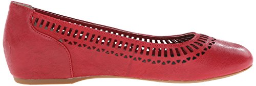 Rockport Mujeres Total Motion 20mm Lazer Cut Out Ballet Ballet Plano Deep Berry Goat