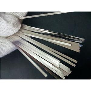 JIAWANSHUN 100 pieces 0.15x8x25mm Pure Nickel 99.96% Strap Strip Sheets battery weld