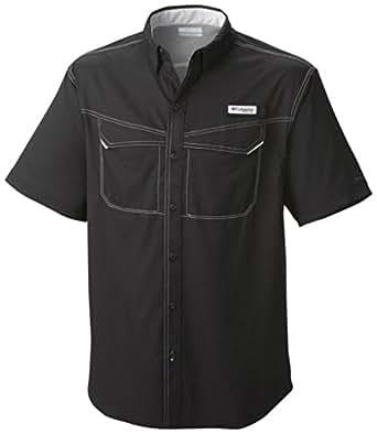 Columbia Men's PFG Low Drag Offshore Short Sleeve Shirt,Black,XL