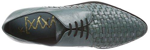xyxyx Lace Up - Zapatos Derby Mujer Azul Petróleo