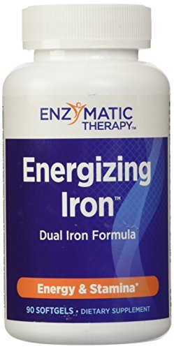 Enzymatic Therapy Energizing Iron (Formerly Liquid Liver Extract), 90 Softgel by Enzymatic Therapy