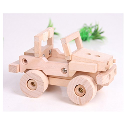 Sala Trend Children Wooden Off Road Truck Building Kit]()