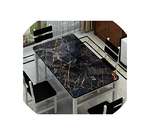 Nordic Style Party Table Decoration mat Imitation Marble Tablecloth Plastic pad PVC Waterproof Placemat Coffee Table mats,DLS32,70x140cm -