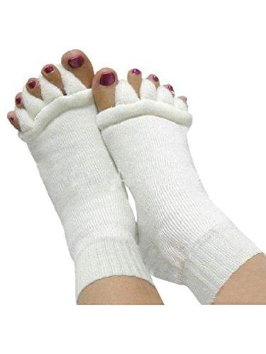 Minjie Foot Alignment Socks Toe Separator Socks Comfy Toes Alignment Socks Yoga Gym Massage Half Toe Socks for Women men