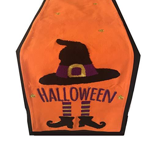 Cassiel Home Halloween Gost Orange Table Runner 15x72]()