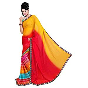 Shilp-Kala Faux Georgette Printed Multi Colored Sarees SKSUSH1005BA