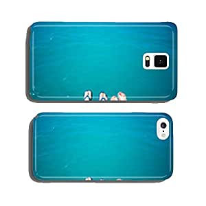Couple's legs in slippers on the sea background cell phone cover case Samsung S6