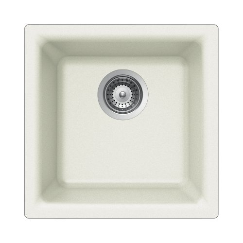 (Houzer EURO N-100 ALPINA Euro Series Undermount Granite Single Bowl Bar/Prep Sink, Alpina)
