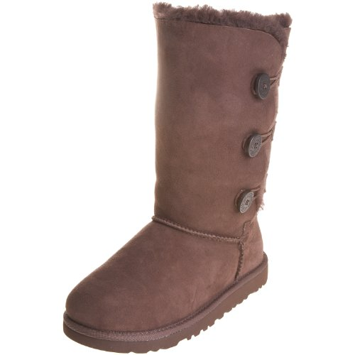 Kid's UGG Bailey Button Triplet,Chocolate,size 1 by UGG (Image #1)