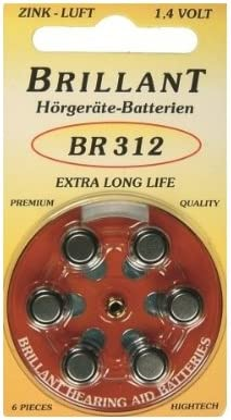 Brillant Typ 312 30 Stück Hörgerätebatterien Elektronik