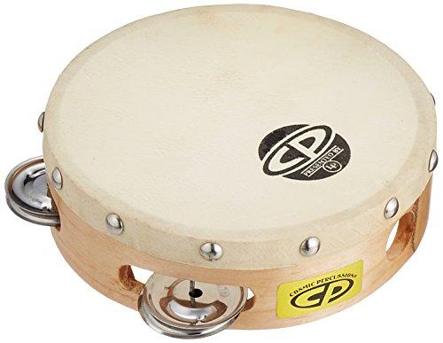 Latin Percussion CP376 6-Inch Tambourine With Head Single Row ()