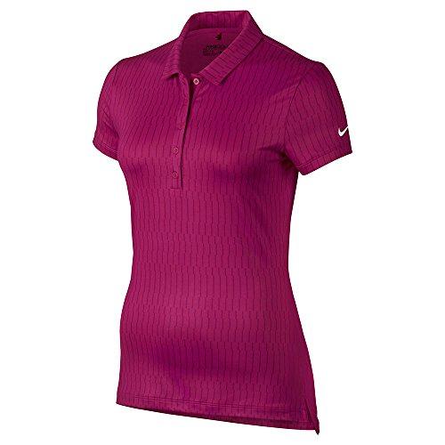 Fuchsia Berry - Nike Icon Print Golf Polo 2017 Women Sport Fuchsia/True Berry/White X-Small