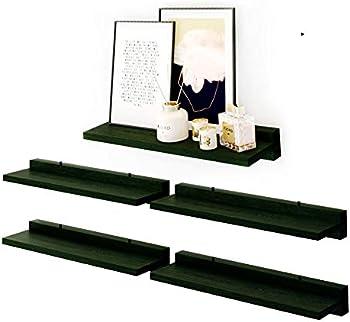 babaka atural Wood Display Floating Wall Shelf