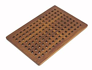 Solid Teak Grate Bath Shower Mat Amazon Co Uk Kitchen Amp Home