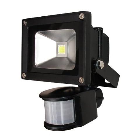 Proyector LED 10 W con detector de movimiento: Amazon.es: Iluminación