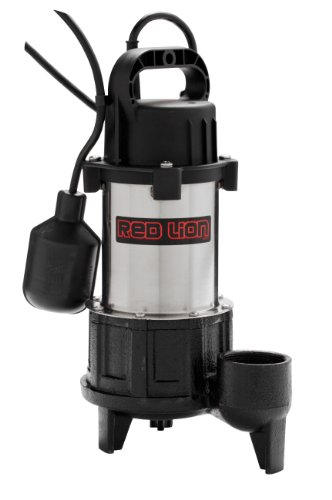 High Volume Submersible Pump - Red Lion RL-SS100T 115V 1 HP Premium Submersible Stainless Steel Sump Pump