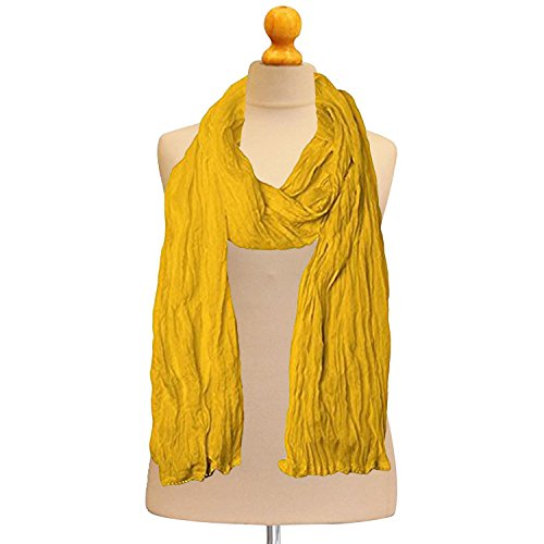 Indian Women Yellow Plain Cotton Dupatta 2.25 Mtrs Hijab Wrap Neck Scarf Fashionable Stole -Traditional Gift by Stylob