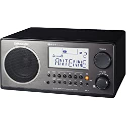 Sangean WR-2BK FM-RBDS AM Wooden Cabinet Digital Tuning Radio (Black) (Renewed)