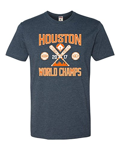 X-Large Navy Adult Houston World Champs 2017 Deluxe T-Shirt