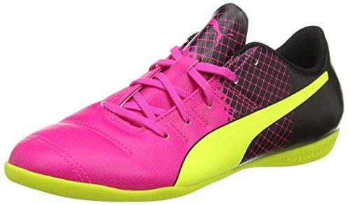 Puma evoPOWER 4.3 Tricks IT Jr, Unisex-Kinder Hallenschuhe, Pink (pink glo-safety yellow-black 01), 28 EU (10 Kinder UK)