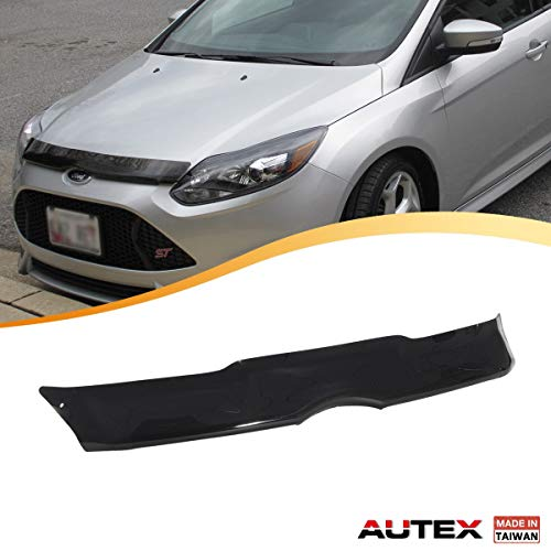 Shield Bug Focus Ford (AUTEX Hood Shields Bug Deflector Fits for 2012 2013 2014 Ford Focus Hood Protector Deflector)