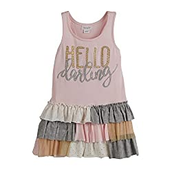 Mud Pie Baby Girl's Dream Big Darling Ruffle Dress (Infant/Toddler) Pink Dress