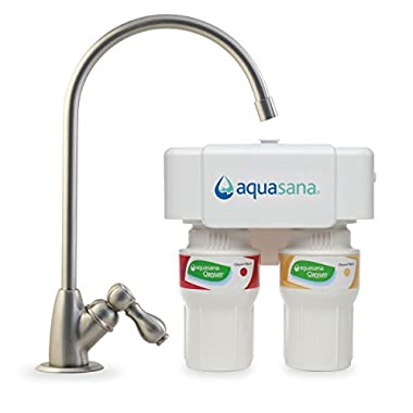 Aquasana AQ-5200.55  2-Stage Under Counter Water Filter System with Brushed Nickel Faucet