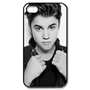 Justin Bieber B/W New Style Durable Iphone 4,4s Case by mcsharks