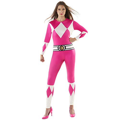 Cheap Power Ranger Morphsuit (Morphsuits Official Womens Pink Power Rangers Costume -)