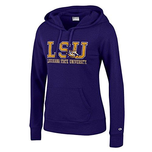 - Champion NCAA LSU Tigers Women's University Fleece Hoodie, X-Small, Purple