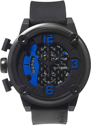 Welder Men's 7103 K28 Chronograph Black Ion-Plated Stainless Steel Round Watch