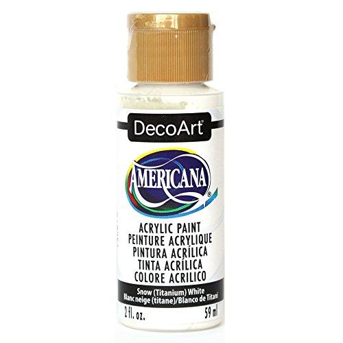 DecoArt DA-01 Americana Acrylic Paint, 2-Ounce, Titanium Whi