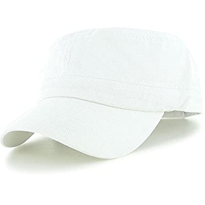 White_(US Seller)Military Style Caps Hat Unizex Bucket