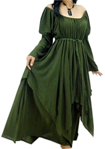 Buy green medieval dress - 5