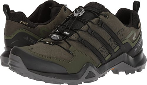 (adidas outdoor Terrex Swift R2 GTX Mens Hiking Boots, Night Cargo/Black/Base Green, 8.5)