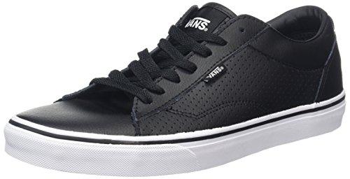 Vans Herren Dawson Low-Top Schwarz (Leather black/white)