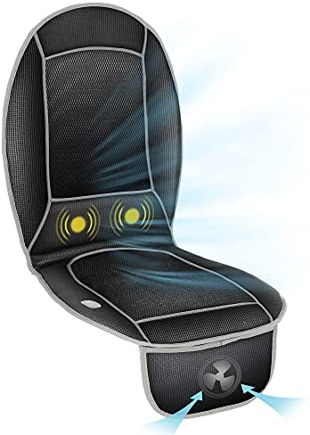 Cooling Seat Cushion with Back Massage,12V Car Seat Cooler Pad,Adjustable Air Car Seat Cushion for Car,Truck Home Office Chair