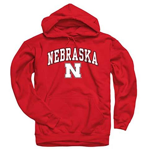 ka Cornhuskers Arch & Logo Gameday Hooded Sweatshirt - Red, Medium ()