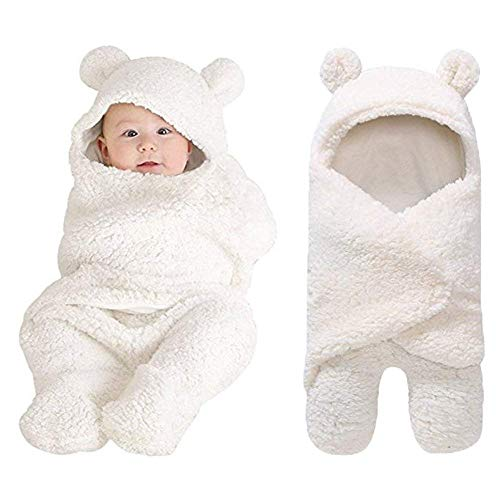- XMWEALTHY Cute Newborn Baby Boys Girls Blankets Plush Swaddle Blankets Baby Shower Gifts White