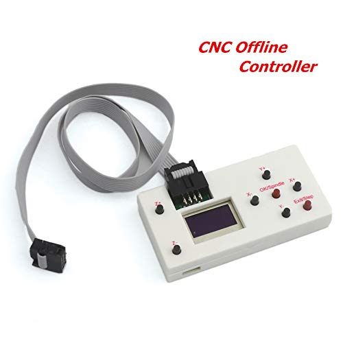 CNC Offline Controller, 3 Axis GRBL DIY CNC Rounter Offline Control Button/Module LCD Screen for CNC Carving Milling Engraving Machine