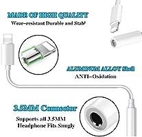 Amazon.com: Adaptador para iPhone a conector de auriculares ...