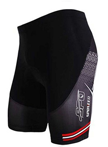 sponeed Cycle Shorts Mens Tights Bicycle Racing Bike Padded Pants Cycling Underwear Asia XL/US L - Mens Shorts Racing
