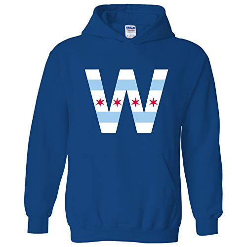 Chicago Flag W Basic Cotton Hoodie - Small - Royal for sale  Delivered anywhere in USA