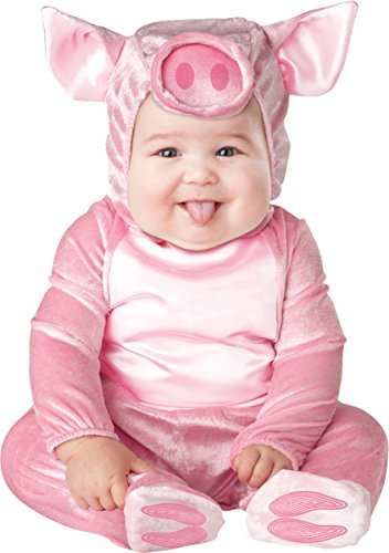 InCharacter Costumes Baby's This Lil' Piggy Costume, Pink, Small